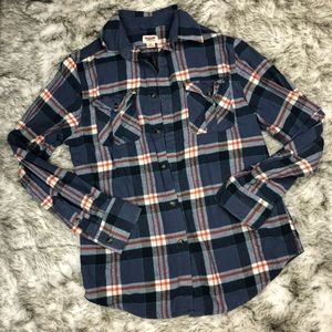Mossimo | Plaid Button Down Flannel Shirt